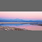 image of salt lake at sunset, salt flats, Atacama Desert, Chile