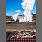 image of breakfast at geysirs, Atacama Desert, Chile