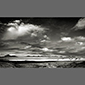 black and white image of Mars Valley, Atacama Desert, Chile