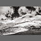 black and white image of Cotopaxi in Ecuador