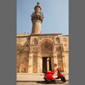 image of old Cairo, Egypt, mosque and scooter