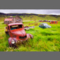 image of antique cars, iceland