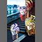 image of 3 masks and Rialto Bridge, Venice, Italy