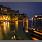 image of Grand Canal at night, Venice, Italy