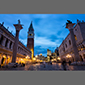 image of St. Mark's Square, Venice, Italy, at night